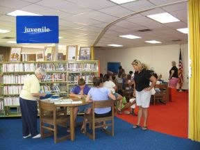 Janet, Eileen and Carol helping with the Summer Reading Program